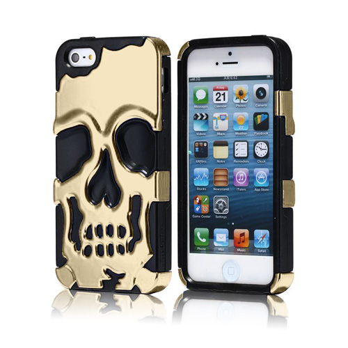 Shiny Skull (Titanium) iPhone 5 Skal