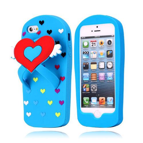 Slipper (Ljusblå) iPhone 5 Skal
