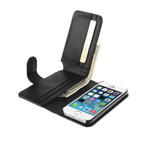 MultiWallet (Svart) iPhone 5/5S Läderfodral / Plånbok