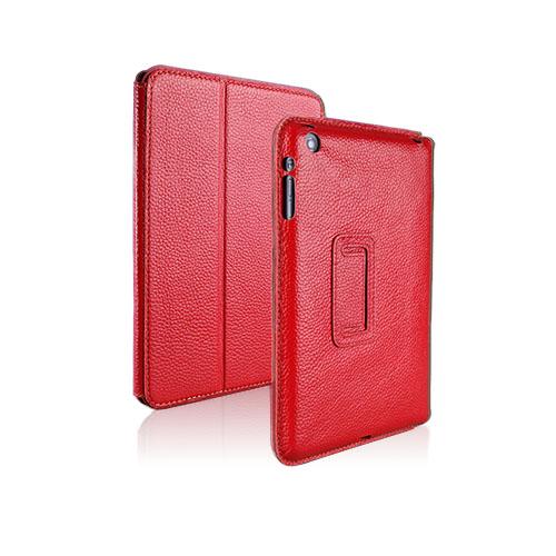 Biz Skal (Röd) iPad Mini Genuint Läderfodral