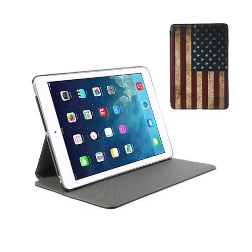 Retro Flag (Stars & Stripes) iPad Mini Läderfodral