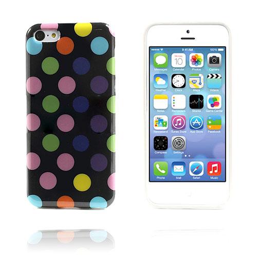 Polka Dots (Svart/Brokig) iPhone 5C Skal