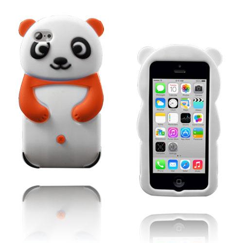 Panda (Orange) iPhone 5C Silikonskal