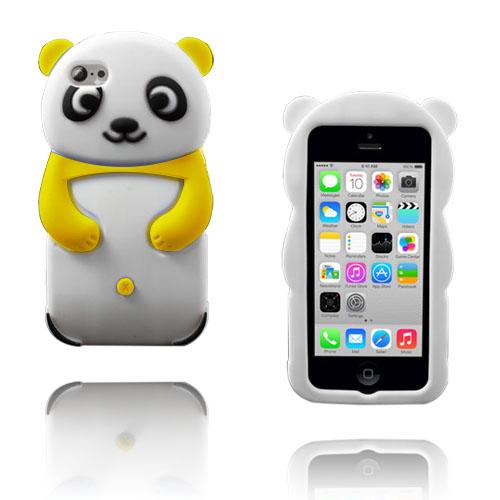 Panda (Gul) iPhone 5C Silikonskal