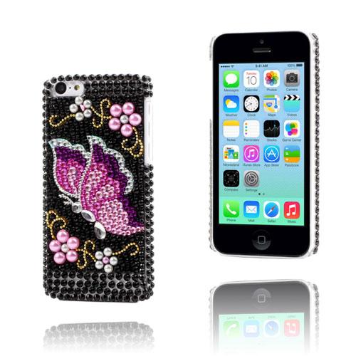 Bling Bling (Rosa/Lila Fjäril) iPhone 5C Skal