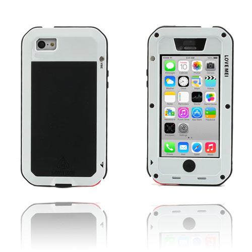 Rugged (Svart/Vit) iPhone 5C Metallskal
