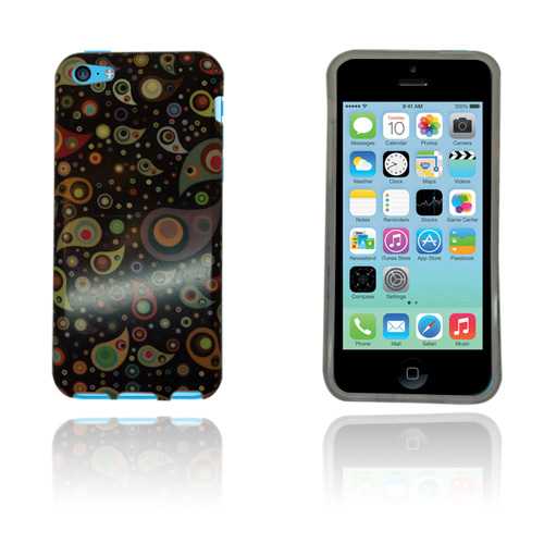 Paisley (Svart Mönster) iPhone 5C Skal