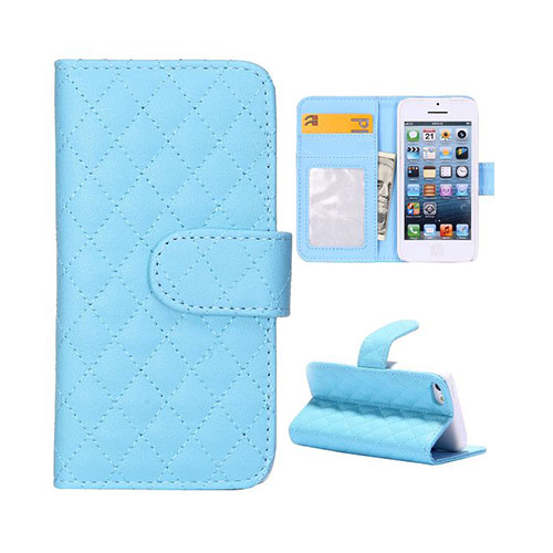 Diamond (Ljusblå) iPhone 5C Läderfodral