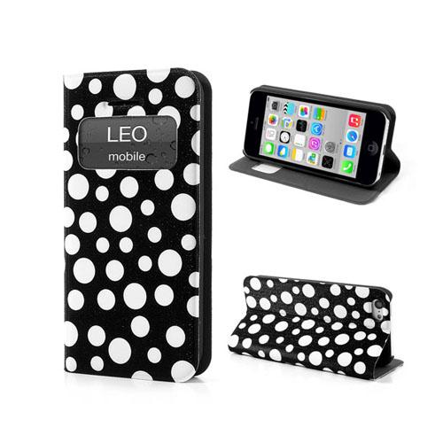 Bubbles (Svart) iPhone 5C Läderfodral