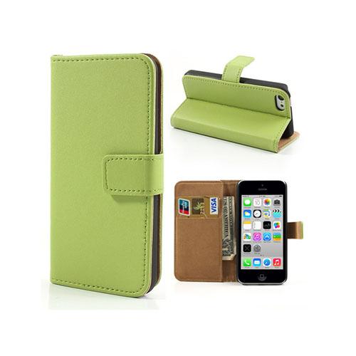 Alexander (Grön) iPhone 5C Äkta Läderfodral