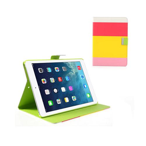 Freestyle (Röd/Gul/Rosa) iPad Air Läderfodral