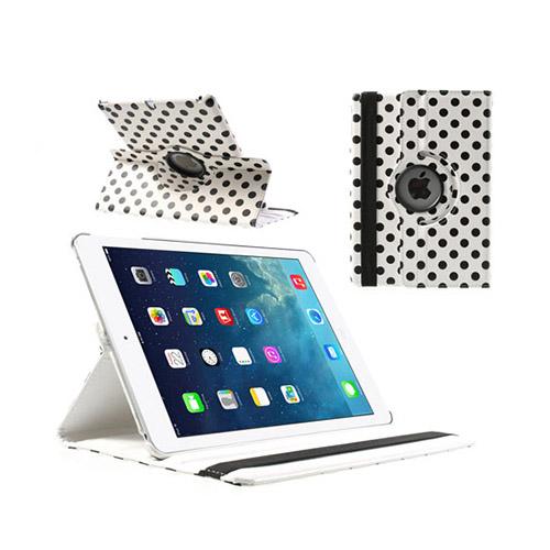 Polka Dots (Vit) iPad Air Läderfodral