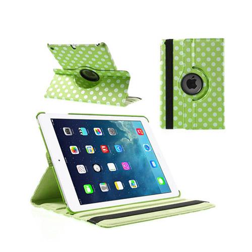 Polka Dots (Grön) iPad Air Läderfodral