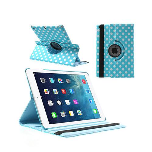 Polka Dots (Blå) iPad Air Läderfodral