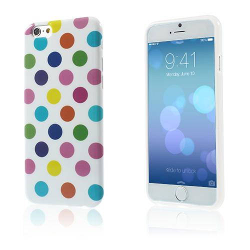 Polka Prickar (Vit / Mångfärgad) iPhone 6 Skal