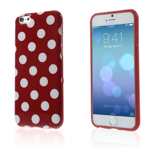 Polka Prickar (Röd / Vit) iPhone 6 Skal