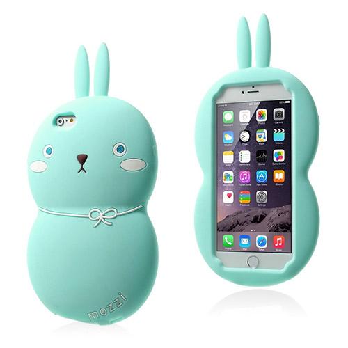 Fat Rabbit (Ljus Blå) iPhone 6 Skal