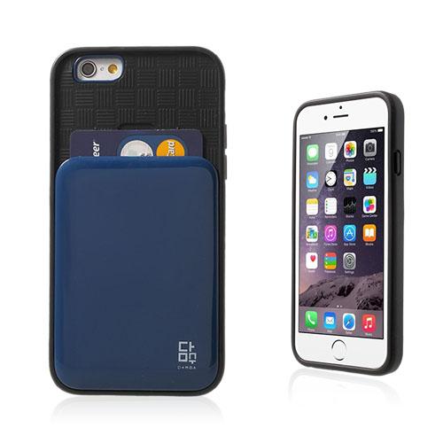 Verus (Mörk Blå) iPhone 6 Korthållare Skal