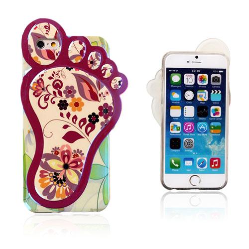 3D Foot (Charmig Blomster) iPhone 6 Skal
