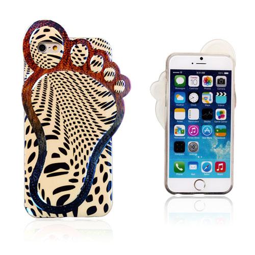 3D Foot (Svarta Mönster) iPhone 6 Skal