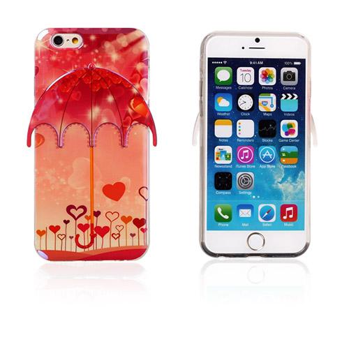3D Umbrella (Hjärtan & Glitter) iPhone 6 Skal
