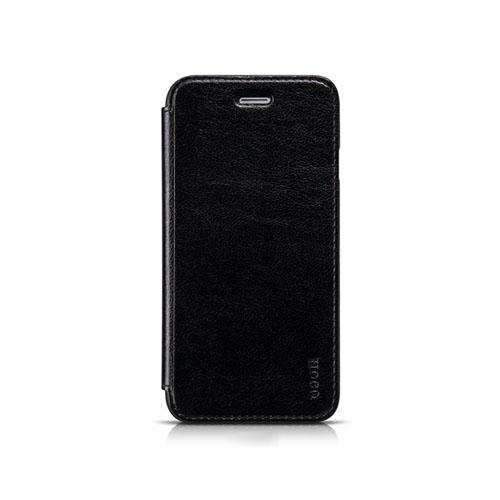HOCO (Svart) iPhone 6 Flip Fodral (Äkta Läder)