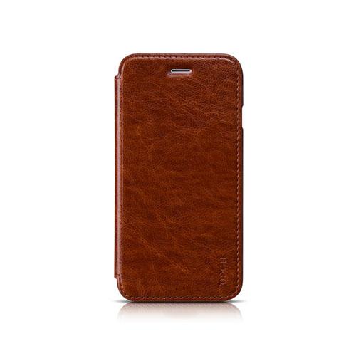 HOCO (Brun) iPhone 6 Flip Fodral (Äkta Läder)