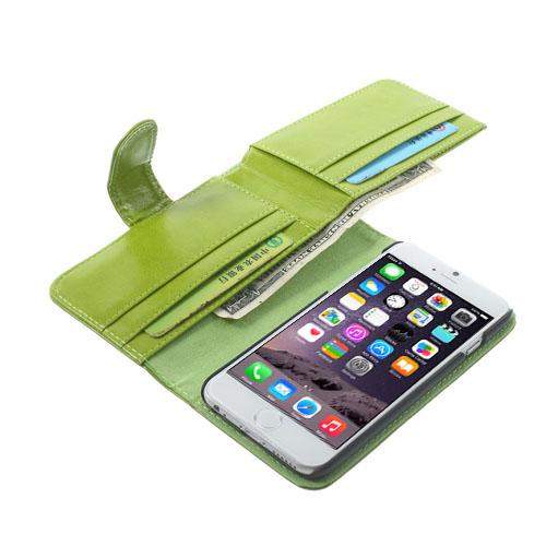 Mankell (Grön) iPhone 6 Flip-Fodral