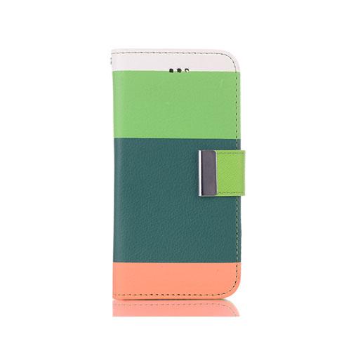 Bjerre (Ljusgrön / Mörkgrön) iPhone 6 Flip-Fodral