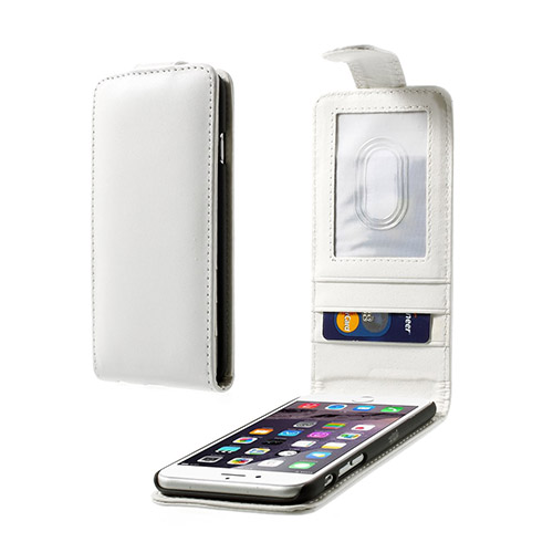 Vertical (Vit) iPhone 6 Flip Fodral