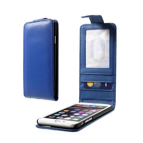 Vertical (Blå) iPhone 6 Flip Fodral