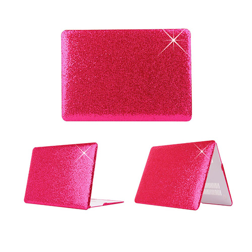 Glitter Macbook Pro 13.3 Retina Fodral – Hot Rosa Paljetter