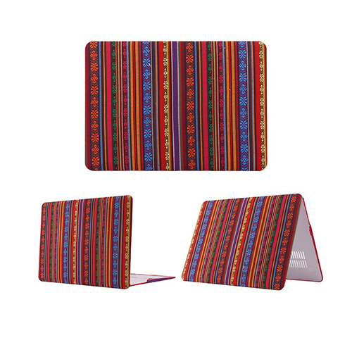 African Tribal Macbook Pro 13.3 Retina Tyg Fodral – Röda & Färggranna Mönster