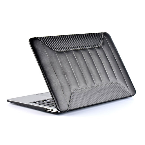 ZVE (Svart) Macbook Pro 15-tums Läder Fodral