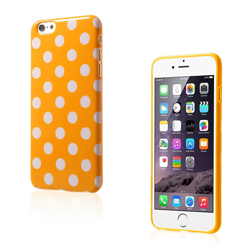 Polka (Orange / Vit) iPhone 6 Plus Skal