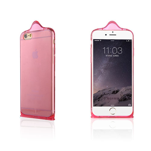 Baseus Condom (Rosa) iPhone 6 Plus Skal