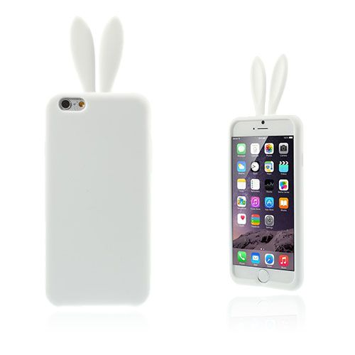 Rabbit Ears (Vit) iPhone 6 Plus Skal