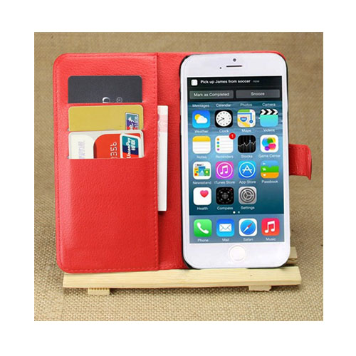 Lindgren (Röd) iPhone 6 Plus Flip-Fodral