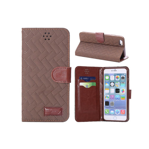 Dahl (Brun) iPhone 6 Plus Flip-Fodral