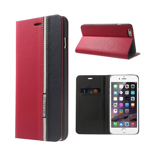 Trenter (Röd / Svart) iPhone 6 Plus Flip Fodral