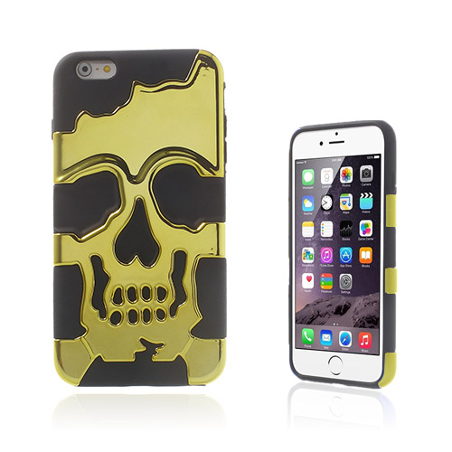 Cool Skull (Gul) iPhone 6 Plus Skal