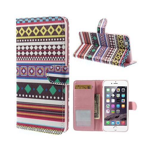 African Tribal (Rhombus) iPhone 6 Plus Flip Fodral