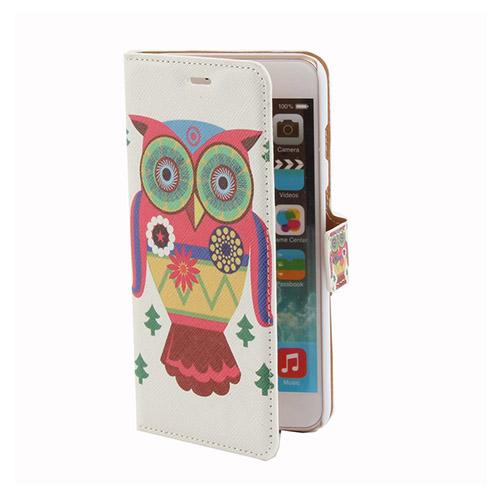Moberg (Färgglad Uggla) iPhone 6 Plus Flip-Fodral