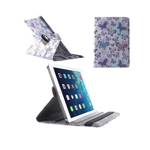 African Tribal iPad Air 2 Tyg Fodral – Lila Fjärilar