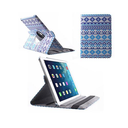 African Tribal iPad Air 2 Tyg Fodral – Blå Tribal Mönster