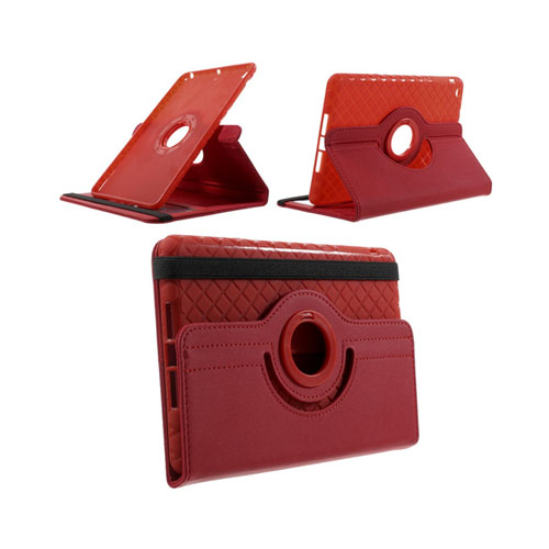 Jessen (Röd) iPad Mini 2 / Mini 3 Läder Roterande Stativ