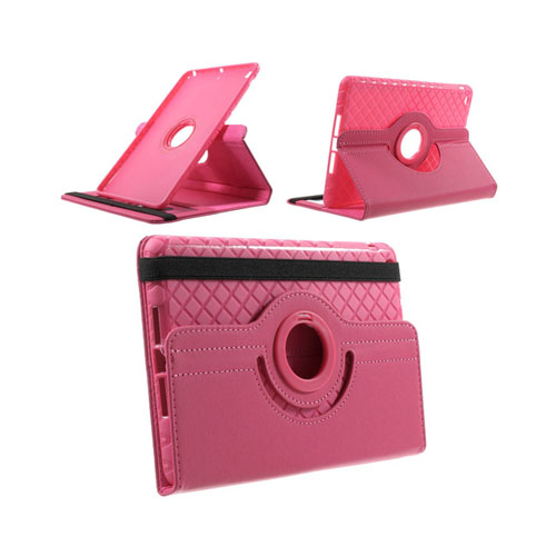 Jessen (Het Rosa) iPad Mini 2 / Mini 3 Läder Roterande Stativ