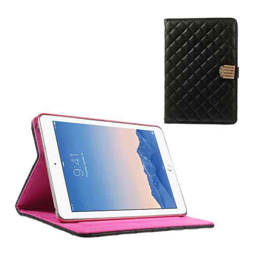 Mellvig Diamond (Svart) iPad Mini 2 / Mini 3 Flip-Fodral