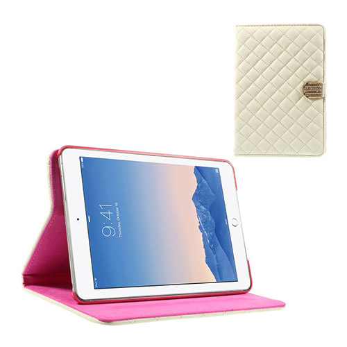 Mellvig Diamond (Vit) iPad Mini 2 / Mini 3 Flip-Fodral
