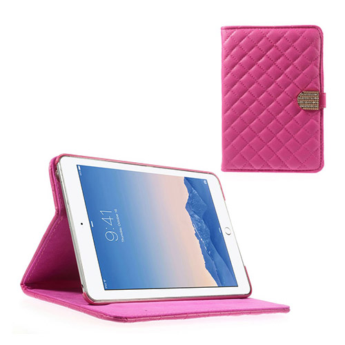 Mellvig Diamond (Knallrosa) iPad Mini 2 / Mini 3 Flip-Fodral